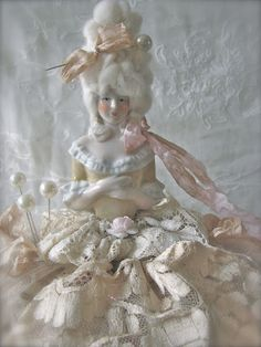 "Charming ""pincushion doll,"" a Marie Antoinette! ~ sewing studio"