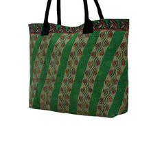 Indian Sari Kantha Tote Bag Vintage Handmade by MyCraftPalace