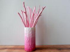 ombre rose Vase / ombre rose décoration pour par CarriageOakCottage