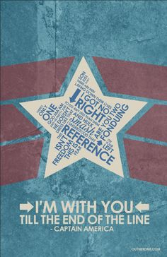 Captain America: The First Avenger (2011) ~ Movie Quotes Poster by Stephen Poon #amusementphile