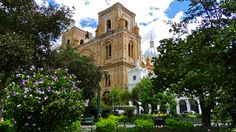 """The Cathedral of the Immaculate Conception, or """"The New Cathedral"""" in Cuenca, Ecuador."""