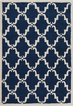 Davin - Patterned Rectangular Contemporary Wool Area Rug 3
