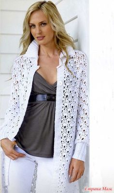 Красивое пальто на лето - Вязание - Страна Мам