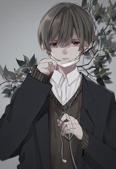 Cool Anime Guys, Handsome Anime Guys, Cute Anime Boy, Manga Anime, Manga Art, Character Art, Character Design, Emo Anime Girl, Anime Triste