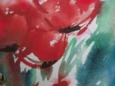 acquerello-fiori rossi