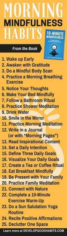 Morning Mindfulness excercises & habits