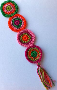 crochet bookmarks | crochet bookmark spicy hot circles by debproductions on Etsy
