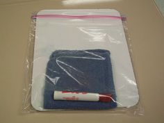 Put everything a student will need when using a dry erase board into one bag: board, eraser.