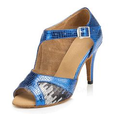Women's Leatherette Heels Latin With Sequin Dance Shoes (053059831)