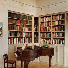 piano library rooms | Piano Room and library