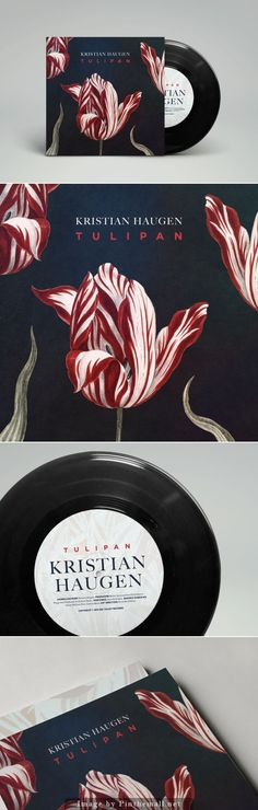Beautiful tulips album cover #packaging curated by Packaging Diva PD - created via http://www.thedieline.com/blog/2014/5/2/tulipan-by-kristian-haugen-cover-artwork