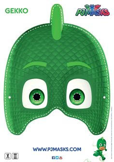 Make your own Gekko mask! #gekko #pjmasks #disneyjunior