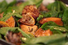 Pollo, zapallo y olivas al horno | Narda Lepes