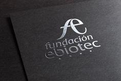 Imagen corporativa. Logotipo Fundación Ebiotec. www.habilis-estudio.es