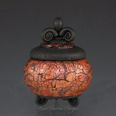 Polymer Clay Pot by Kate Tracton Designs - inspiration no tutorial