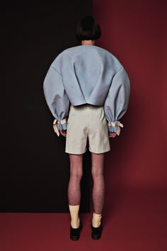 """MOTOGUO FW 2015 """"A LITHO ODD"""" LOOKBOOK LOOK 11 BUBBLES FLOAT ON YOUR BIG JUMPER + SMILEY PANTS IN CHECKS BACK"""