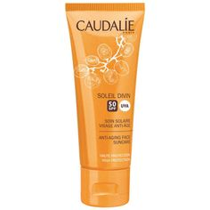 Caudalie Anti-Ageing Face Suncare - SPF50 40ml ($29) ❤ liked on Polyvore featuring beauty products, skincare, face care, face moisturizers and anti aging face moisturizer