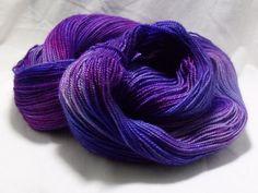 Hand Dyed Sock Yarn in Blurple. $23.00, via Etsy.