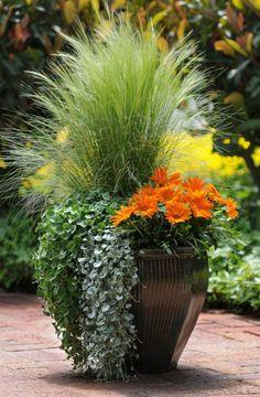 Fall Planters, Garden Planters, Flower Planters, Balcony Garden, Big Planters, Large Garden Pots, Hanging Planters, Container Flowers, Container Plants