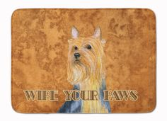 Silky Terrier Wipe your Paws Machine Washable Memory Foam Mat LH9445RUG