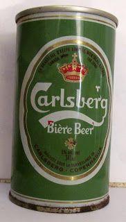 LATAS Y BOTELLAS COLECCIÓN: LATA CARLSBERG BEER 341 ML ,  ORIGEN CANADA 1980