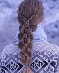 complex multi strand plait with braid accent