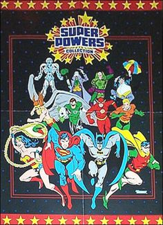 Kenner Super Powers Promo Poster - 1984