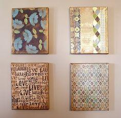 DIY Scrapbook Paper & Canvas Art
