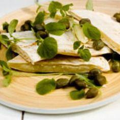 Tortillas med ost og peberrod opskrift