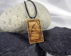 Howling Wolf Necklace Wood Wolf Pendant Wolf Jewelry by SepiaTree #woof #howlingwolf #woodnecklace #etsy #etsyshop #pyrography