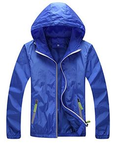 Womens Running Cycling Zip-up Waterproof Jacket Quick Dry Waterproof Coat Jacket Blue US L/Lable XXL Check out the image by visiting the link.