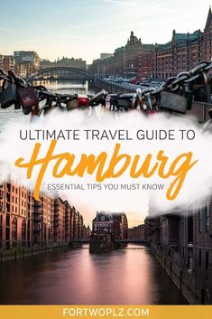 Planning your first Hamburg trip and not sure what to expect? This Hamburg travel guide outlines everything you should know about Hamburg, Germany. From public transport to top attractions, you will find useful Hamburg travel tips in this post to help you Europe Destinations, Europe Travel Guide, Travel Guides, Travelling Europe, Traveling, Tahiti, Wanderlust, By Train, Ultimate Travel