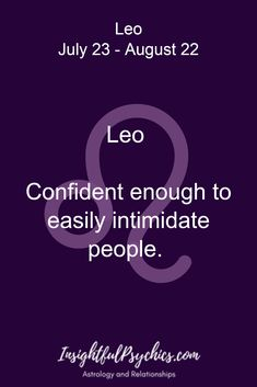 Leo Confident enough to easily intimidate people. / Leo July 23 - August 22 << Yeah when you interrupt me reading fanfiction Leo Quotes, Capricorn Quotes, Strong Quotes, Attitude Quotes, Leo Horoscope, Astrology Leo, Leo Zodiac Facts, Zodiac Memes, Pisces Zodiac