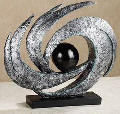Earths Motion Abstract Table Sculpture nice for mosaic base Abstract Sculpture, Wood Sculpture, Abstract Art, Sculpture Rodin, Wire Sculptures, Bronze Sculpture, Sculpture Projects, Metal Art, Garden Art