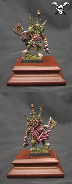 Chaos Warrior Warhammer Green & Purple = Nurgle
