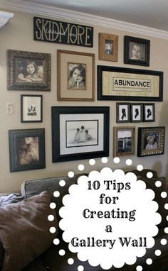 10 tips for creating a gallery wall, home decor, wall decor, 9 Start with larger objects in the middle and work the smaller objects in at the edges 10 Use different sized pictures And one last tip Hang things that you LOVE to look at Organisation Des Photos, Organization, Collage Mural, Collage Ideas, Images Murales, Photowall Ideas, Style Deco, My New Room, Picture Frames