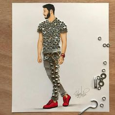 Fashion Illustration Speed Painting with Ink - Drawing On Demand Fashion Design Drawings, Fashion Sketches, Fashion Illustration Dresses, 3d Fashion, Dress Sketches, Fashion Figures, Guy Drawing, Drawing Tips, Creative Artwork