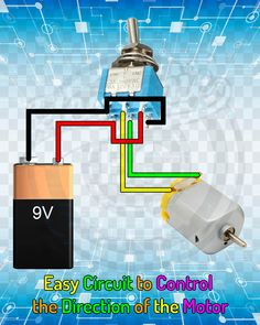 Easy Circuit to Control the Direction of the Motor. – electronic bo Easy Circuit to Control the Direction of the Motor. Easy Circuit to Control the Direction of the Motor. Electronics Mini Projects, Simple Electronics, Electrical Projects, Electrical Installation, Electronics Components, Electrical Wiring, Electronic Circuit Design, Electronic Engineering, Electrical Engineering