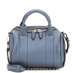 Alexander Wang Rockie Leather Shoulder Bag ($950) ❤ liked on Polyvore featuring bags, handbags, shoulder bags, blue, shoulder handbags, alexander wang purse, real leather purses, blue leather purse and leather handbags