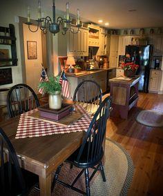 Shabby Chic Kitchen, Rustic Kitchen, Country Kitchen, Primitive Kitchen, Primitive Country, Kitchen Dinning, Home Decor Kitchen, New Kitchen, Kitchen Design