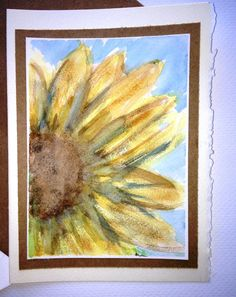 Sunflower watercolor All Occasion Card by Wonderlustcompany