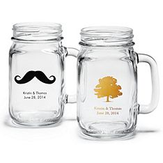 Personalize these charming & classic glasses with your choice of over 70 designs for a favor that guests will appreciate long after your reception.