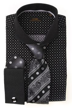 Dress Shirts : DS1246_Blk