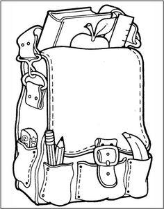 Rucksack ausmalbild  Bilder zum Ausmalen und Drucken Stiefel, Tasche, Hut ...
