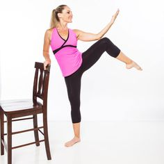 Home Barre Workout: Ballet Belly, Buns, and Thighs - Sculpt a lean dancer's body on your own schedule with this ballet-inspired circuit Barre Exercises At Home, Toning Workouts, Fun Workouts, At Home Workouts, Barre Moves, Core Exercises, Workout Ideas, Fitness Tips, Fitness Motivation