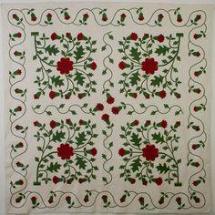Floral Applique Quilt: Circa 1860; Pennsylvania