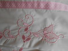 Butterfly Embroidered Cottage Chic Pillow Case by TattooedTextiles, $29.00