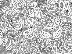 abstract flower coloring pages | Download Abstract Coloring Pages at 600 x 450 Resolution.