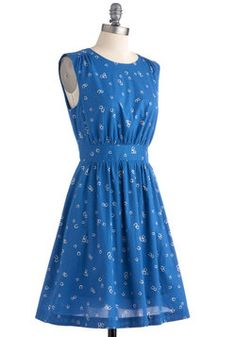 Too Much Fun Dress in Horseshoes, #ModCloth  Either wear to cousins wedding or for Molly