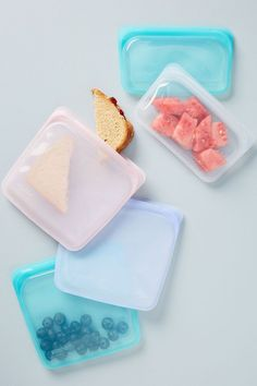 Stasher Sandwich Bag by in Purple, Kitchen at Anthropologie - Rezepte Bow Sandwich Bags, Sandwiches, Isle Of Man, Snack Bags, Lunch Bags, Food Storage Containers, Lunch Containers, Sustainable Living, Sustainable Products